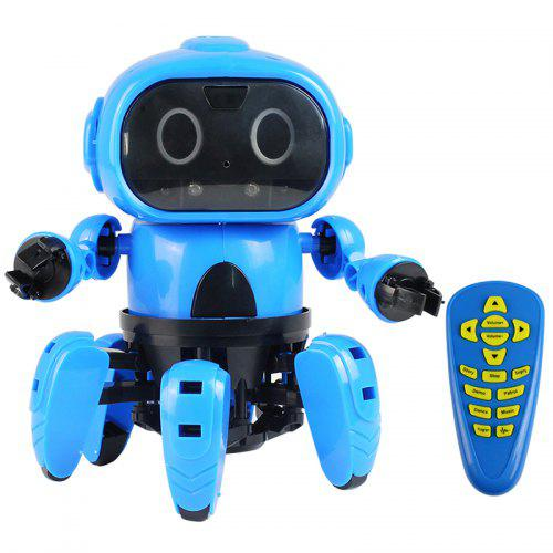 Gearbest MoFun Upgraded 963 DIY Assembled Electric Robot Induction Educational Toy - Dodger Blue Gesture Sensing Follow / Infrared Obstacle Avoidance Adventure / Remote Control Three Modes