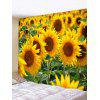 Sunflower Field Print Tapestry Wall Hanging Art Decor - YELLOW