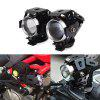 125W 12V 3000LM U5 LED Motorcycle Headlights 2PCS - BLACK