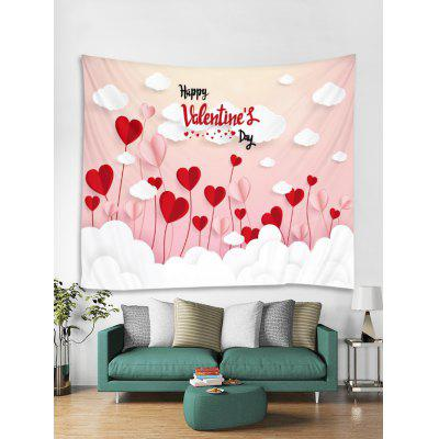 Valentine Heart Cloud Tapestry Art Decoration