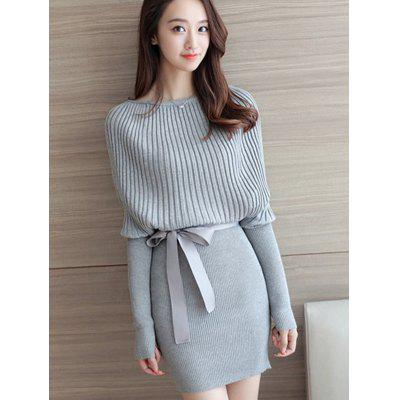 Female Loose Pullover Bottoming Slim Knit Dress