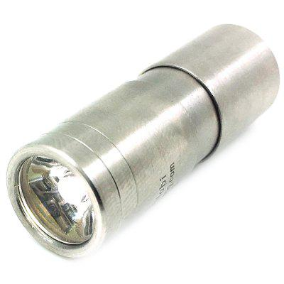 Hobi Plus Stainless Steel Mini 3 Mode 10180 120lm Rechargeable Flashlight
