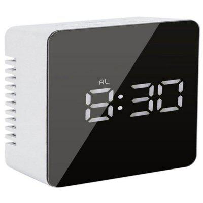 Square Mirror Multi-function LED Alarm Clock