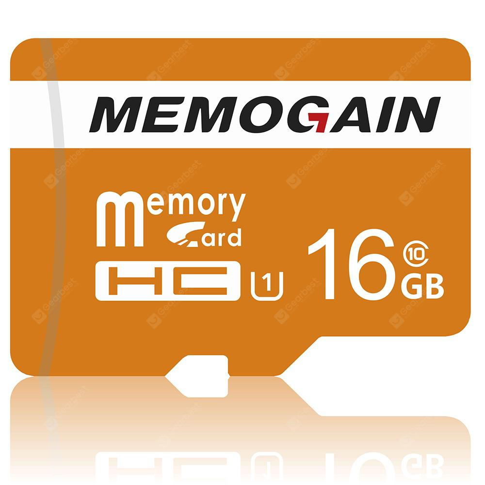 MEMOGAIN High Speed TF / Micro SD Memory Card - PAPAYA ORANGE 16GB