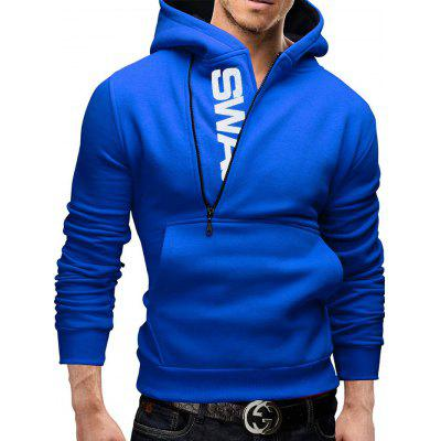 Man Hoodie Sweater Single Color Leisure Time Coat