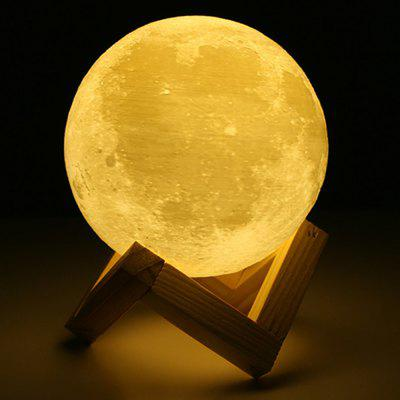 Touch Three-Color 3D Bedside Creative Led Luminous Moon Lamp