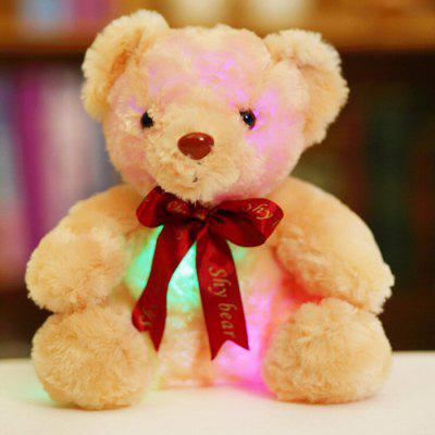 Cartoon Cute Glowing Ribbon Bow Tie Teddy Bear Plush Toy