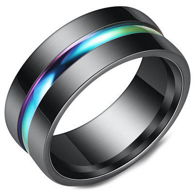 Fashion Black Color Stainless Steel Ring