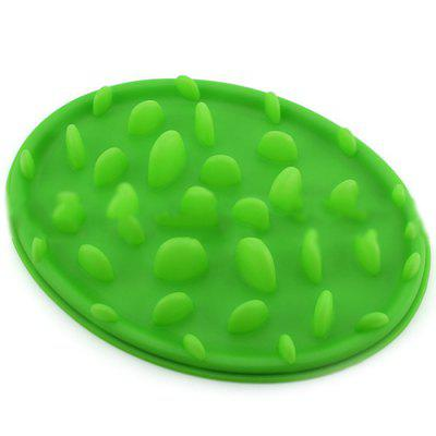 Pet Silicone Slow Food Bowl Jungle Music Food Bowl Dog Bowl Cat Bowl Slow Food Anti-mite Food Anti-slip