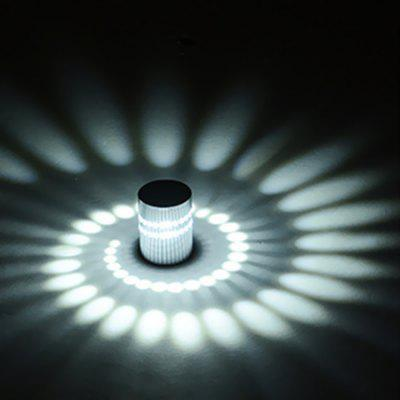 85 - 265V 3W LED Creative Remote Control Wall Light