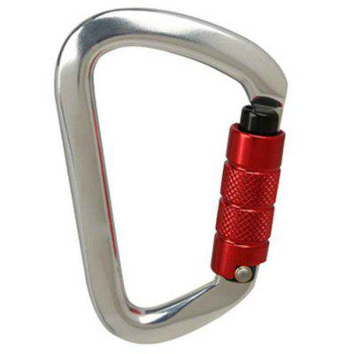 Outdoor Professional Rock Climbing D-type Automatic Master Lock Carabiner