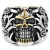 Men Ring Retro Creative Pattern Halloween Double Color - SILVER