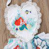 FT1531 Baby Girl Sweet Backless Love Cartoon Print Bodysuit - WHITE