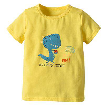 Boy Summer Models Short-sleeved Dinosaur Child Cartoon T-shirt
