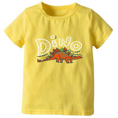 Boy Summer Short-sleeved Dinosaur Cartoon T-shirt