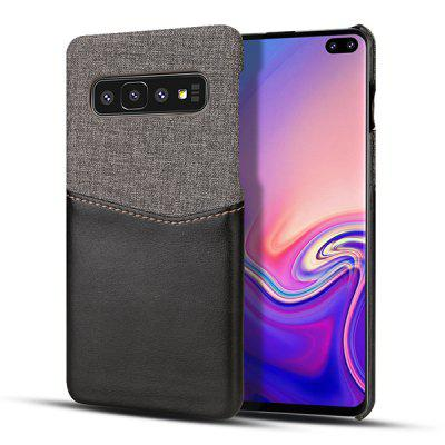 Leather Patchwork Card Phone Case for Samsung Galaxy S10 Plus
