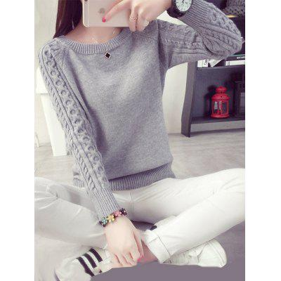 Thick Knitted Shirt Girls Pullover Sweater Long Sleeve