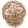 Wooden Mechanical Transmission Model DIY Woman Flower Gear Rotate Puzzle Valentine Day Birthday Gift - BURLYWOOD