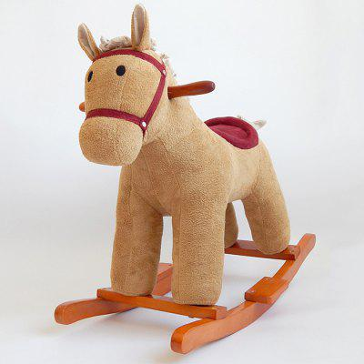 Baby Wood Trojan Horse Music Rocking Chair