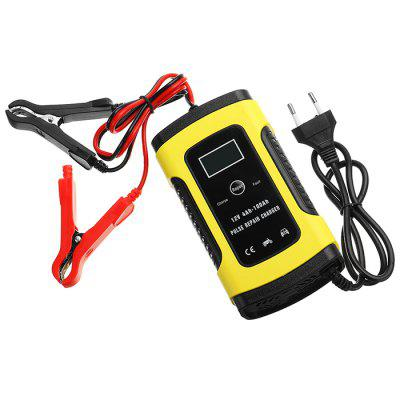 12V 5A Pulse Repair Motorcycle and Car Lead Acid Battery Charger Z monitorem LCD