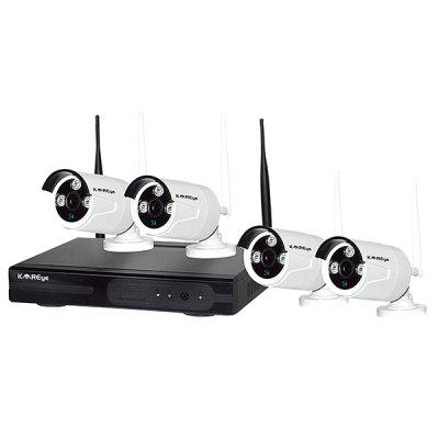 KAREyE K427 - W4 4CH Wireless Video Security System ( 1080P Wireless NVR and 4pcs 720P / 1.0Mpixels Wireless Ip Camera )