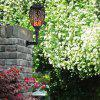 HC - 3C96 Solar Garden Waterproof Wall Mount Flame Light - BLACK