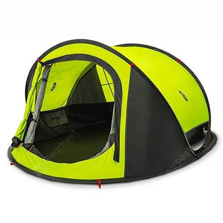Zaofeng Outdoor 3 - 4 People Double-layer Quick-opening Tent from Xiaomi youpin - Clover Green
