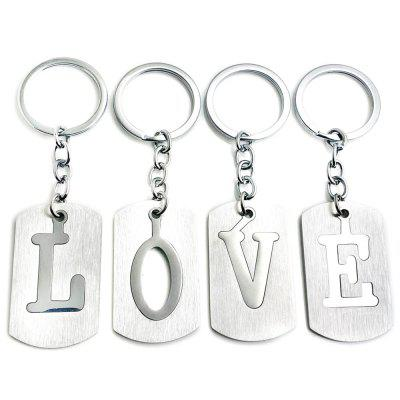 Valentine's Day Letters Key Ring 4PCS