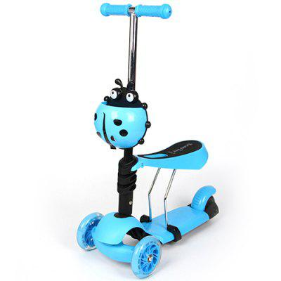 Folding Pedal Three-wheeled Children Scooter