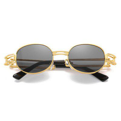 Punk Men and Women Sunglasses Hollow Classic Metal Steam Retro Glasses