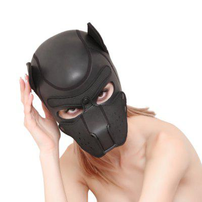 Men And Women Training Supplies Sex Love Toy Role Playing Obedient Dog CR Rubber Dog Headgear
