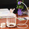 Retro Creative Bird Cage Wrought Iron Candlestick - WHITE