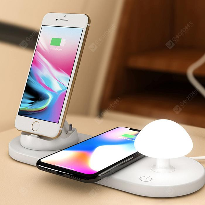 Utorch B06 Wireless Fast Charging USB Touch Night Light - WHITE