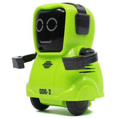 DDG - 2 Pocket Voice Recording RC Robot Intelligent Smart Recorder Arm Wheeling 360 Rotating Toys for Kids Gifts