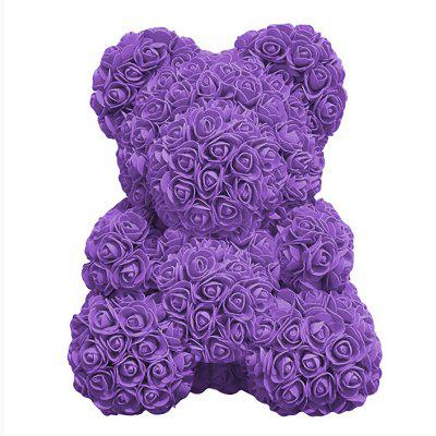 DIY Self-assembling Rose Bear Table Decoration Romantic Valentine's Gift