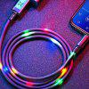 Volume Control Dance LED Light Flash 2A Fast Charging Micro USB Cable for iPhone 6 / 7 / 8 - BLACK