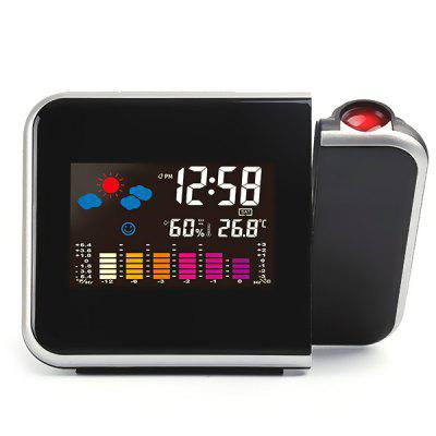 Creative LED Weather Forecast Proyección Snooze Color Pantalla Reloj