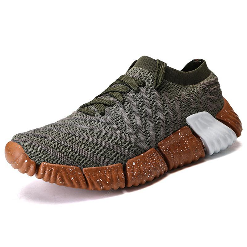Comfortable Fashion Casual Breathable Sneakers for Men - EU 43 Army Green