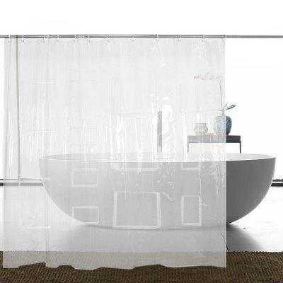 Transparent Shower Curtain With 12 Storage Bags