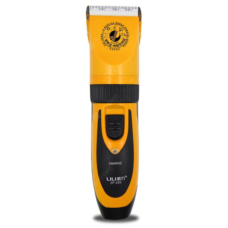 LILI ZP - 295 Professional Hair Clipper for Pets - RUBBER DUCKY YELLOW US PLUG (2-PIN)