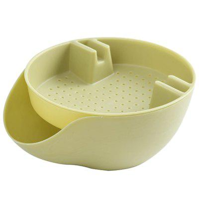 Double-layered Melon Seeds Dish Living Room Plastic Plate Household Drain Lazy Fruit Box