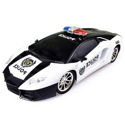 1:12 4CH Remote Control Police Model Car with Front Bulb