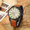 CURREN 8250 Casual heren quartz horloge - TIGER ORANGE