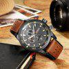 CURREN 8250 Casual Men Quartz Watch - DEEP BROWN