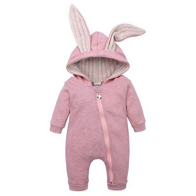 Baby Cute Rabbit Ears Zipper Cotton Bodysuit