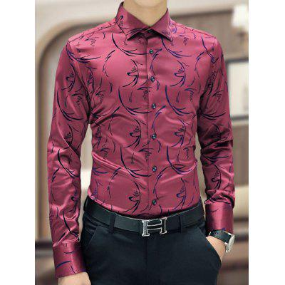 men's korean business long sleeve shirt