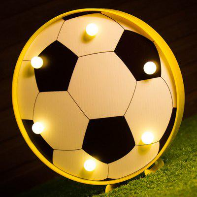 Luz LED decorativa de doble uso con forma de fútbol