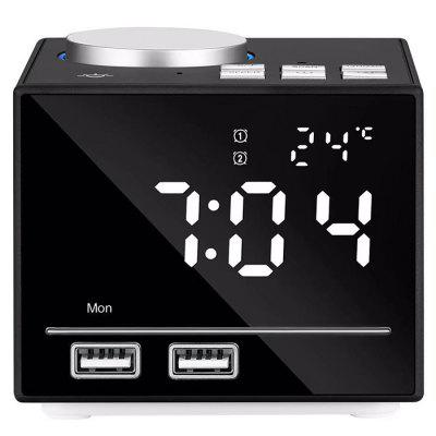 k3 creative night light bluetooth alarm clock speaker