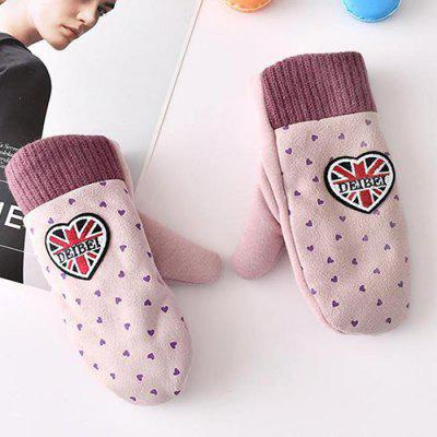 XIMIVOGUE Children Heart Pattern Warmer Gloves 2pcs