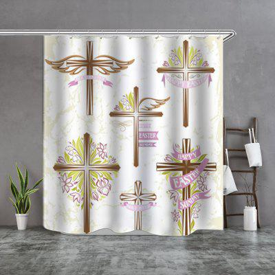 cross waterproof fine shower curtain